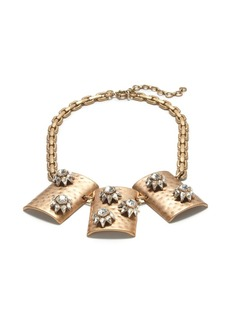 Floral shield necklace