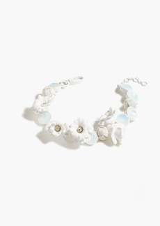 Floral wreath necklace