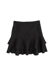 Flounce skirt in bonded wool