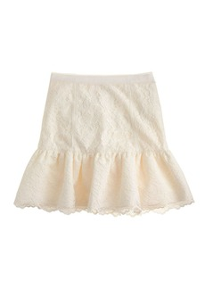 Flouncy lace skirt