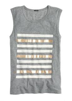 Foil striped tank top