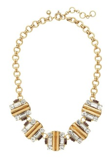 Folded framework necklace