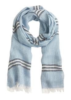 Fringe scarf in stripe