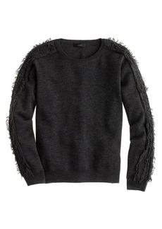 Fringe-sleeve sweater