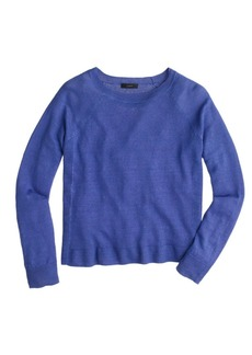 Garment-dyed linen swing sweater