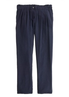 Gathered pull-on pant in silk