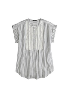Gauze tunic in stripe