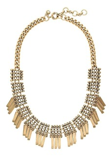 Geometric fringe necklace