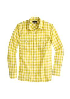 Gingham utility shirt
