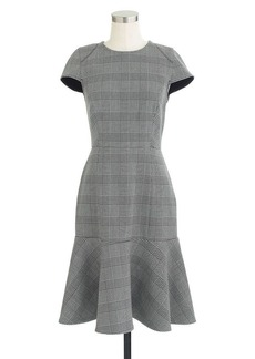 Glen plaid cap-sleeve dress