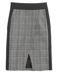 Glen plaid crossover skirt