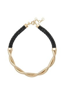 Gold braid necklace