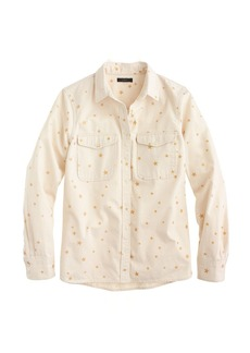 Gold star ecru shirt