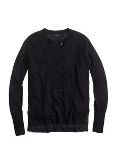 Grommet henley sweater