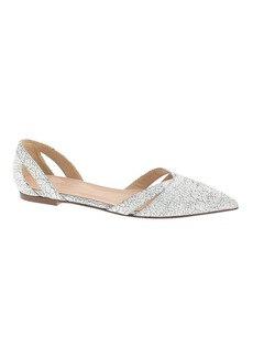 Harper crackled cutout flats