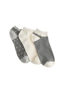 Heart ankle socks three-pack