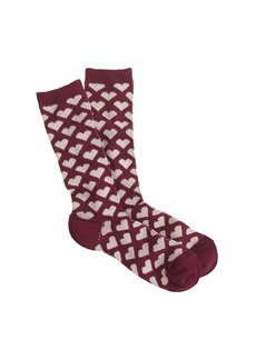 Heart-print trouser socks