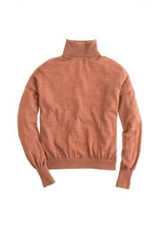 Heathered merino wool turtleneck sweater