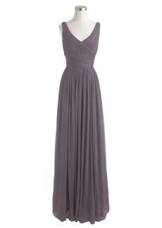 Heidi long dress in silk chiffon