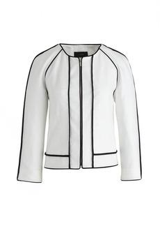 Herringbone linen jacket