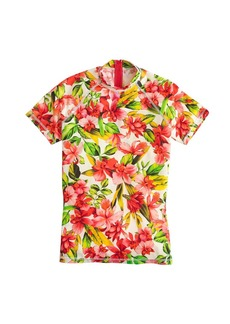 Hibiscus short-sleeve rash guard