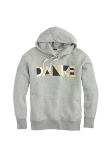 "Hooded ""danke"" sweatshirt"