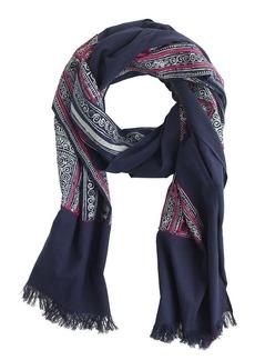 Indigo block print scarf