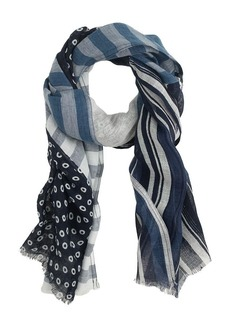 Indigo-patch scarf