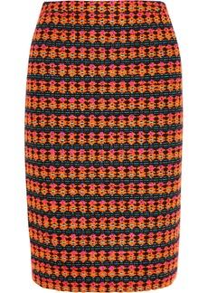 J.Crew Collection neon tweed pencil skirt