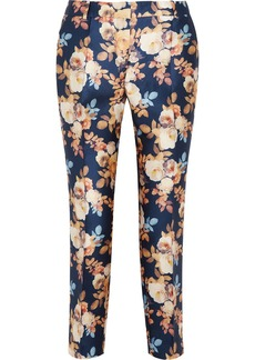 J.Crew Collection printed shantung straight-leg pants