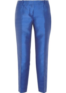 J.Crew Collection silk-blend shantung straight-leg pants