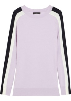 J.Crew Color-block merino wool sweater