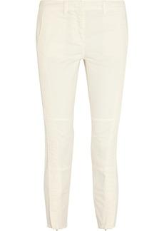 J.Crew Cropped stretch-cotton moto-style pants