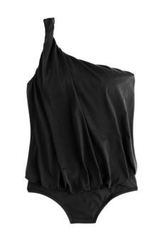 Jersey Lomellina® asymmetrical blouson tank