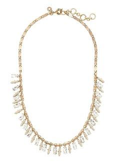 Jeweled fan necklace