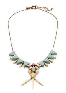 Jeweled shield pendant