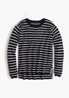 Jeweled striped swing sweater