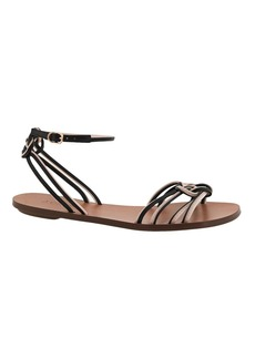Knotted two-tone sandals