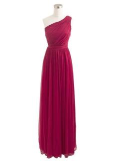 Kylie long dress in silk chiffon