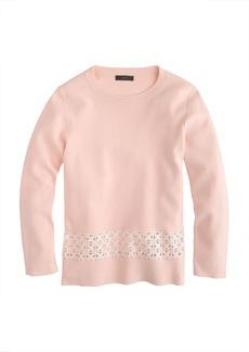 Lace-hem sweater