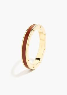 Leather accent bangle bracelet