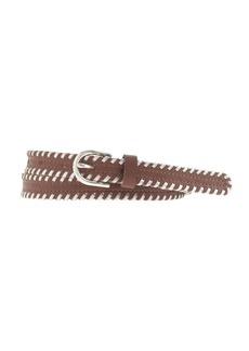 Leather whipstitch belt