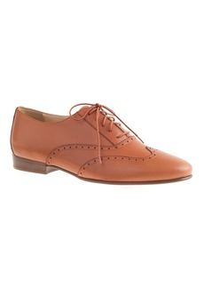Leather wing-tip oxfords