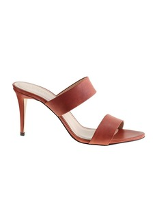 Lena leather heeled slides