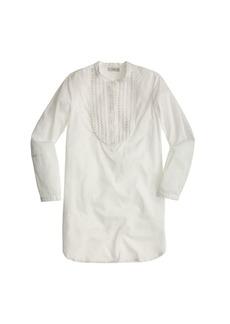 Lightweight gauze beach tunic with eyelet bib