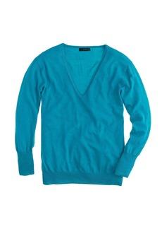 Lightweight merino wool V-neck sweater
