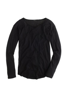 Linen-cotton long-sleeve tee