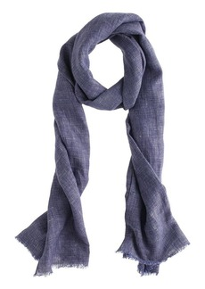 Linen grid scarf