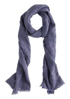 Linen grid scarf