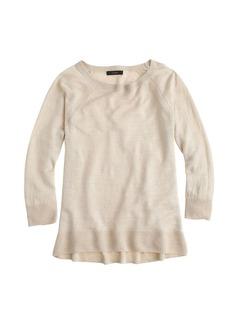 Linen high-low hem sweater
